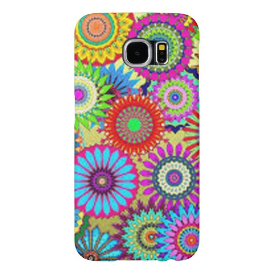 Colourful Circle Flowers Samsung Galaxy S6 Cases