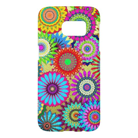 Colourful Circle Flowers Samsung Galaxy S7 Case