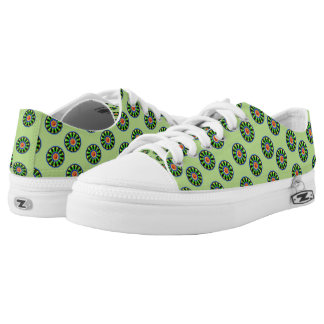 Colourful circle kaleidoscope pattern Low-Top sneakers