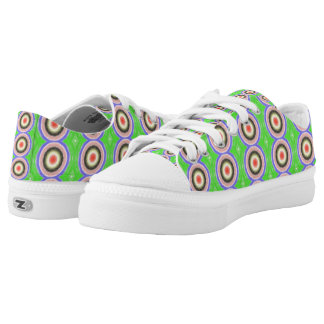 Colourful circle pattern Low-Top sneakers