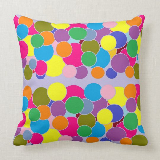 Colourful Circles Pattern Throw Pillow