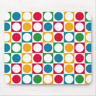 Colourful Circles & Squares Pattern Mouse Pad
