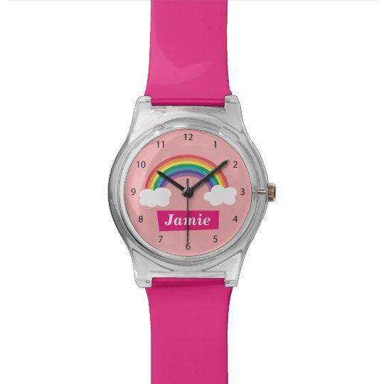 Colourful Clouds and Rainbow, for Little ones Wristwatch