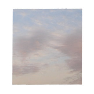 Colourful clouds notepad