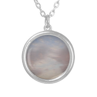 Colourful clouds silver plated necklace