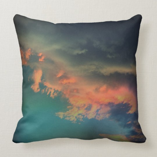 Colourful Clouds Throw Pillow