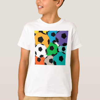 Colourful cluster of soccer balls T-Shirt