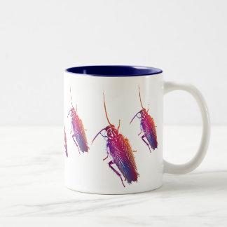 Colourful Cockroach Two-Tone Coffee Mug