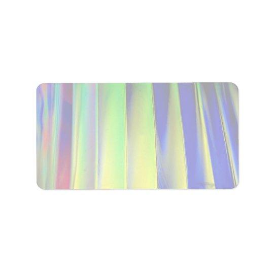 Colourful Coloured louvers Label