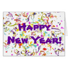 Colourful Confetti New Year Card