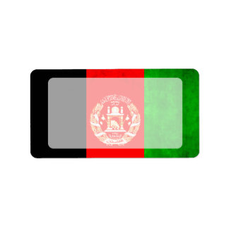 Colourful Contrast Afghan Flag