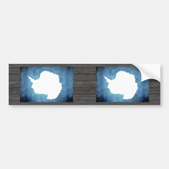 Colourful Contrast Antartican Flag Bumper Sticker