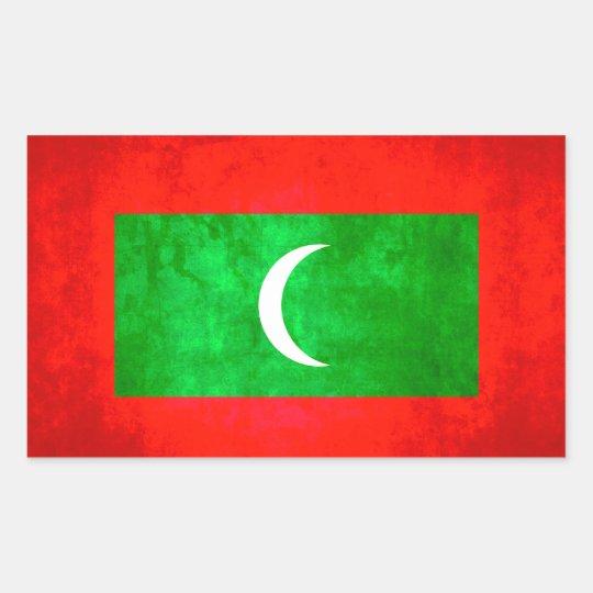 Colourful Contrast Maldivan Flag Sticker