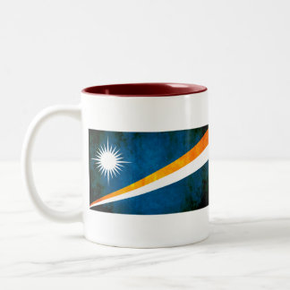 Colourful Contrast Marshallese Flag Two-Tone Coffee Mug