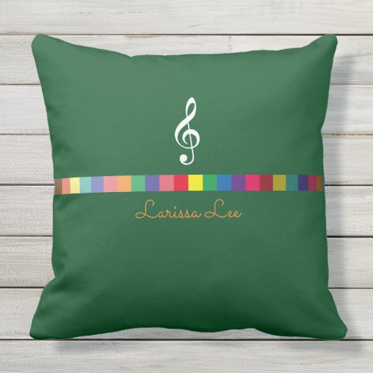 colourful, cool & personalized music inspired throw pillow