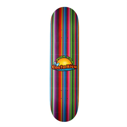 Colourful Costa Rica Skateboard