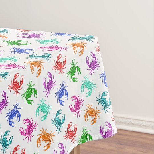 Colourful Crabs Tablecover Tablecloth