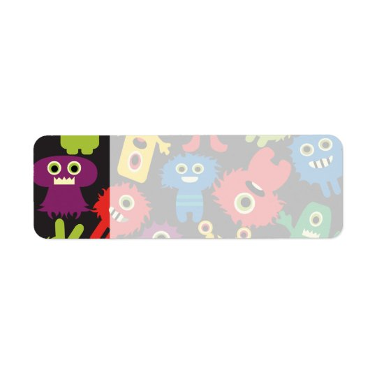 Colourful Crazy Fun Monsters Creatures Pattern