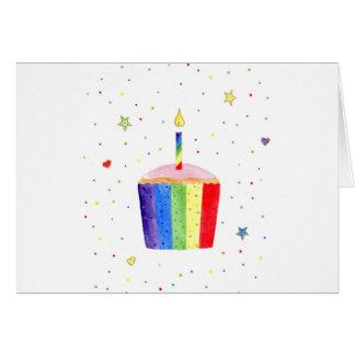 colourful cupcake card