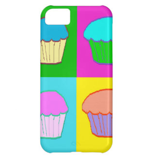 Colourful Cupcake Popart Case Cover For iPhone 5C