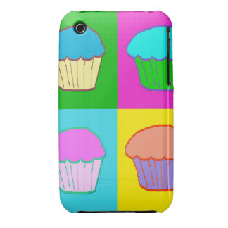 Colourful Cupcake Popart Case iPhone 3 Case-Mate Cases
