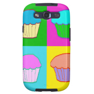 Colourful Cupcake Popart Case Samsung Galaxy S3 Case