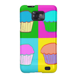 Colourful Cupcake Popart Case Samsung Galaxy S Cover