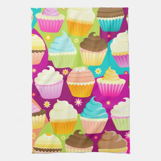 Colourful Cupcakes Kitchen Towel