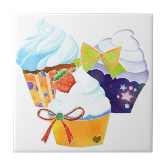 Colourful Cupcakes Kitchen Trivet Deco Tiles