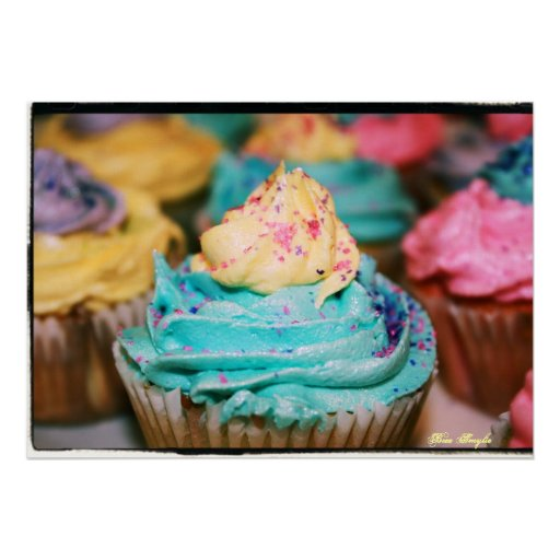 Colourful Cupcakes Poster