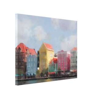 Colourful Curacao Painting Gallery Wrap Canvas