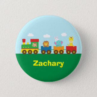 Colourful Cute Animals Train for Kids 2 Inch Round Button