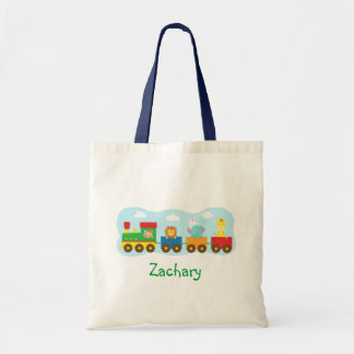 Colourful Cute Animals Train for Kids Tote Bag