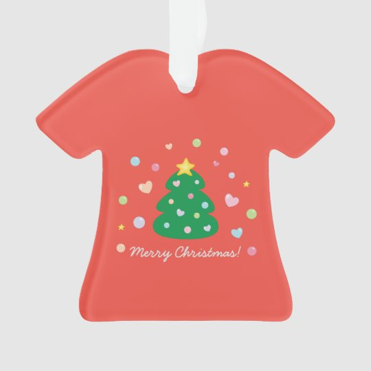 Colourful Cute Festive Merry Christmas Tree Ornament