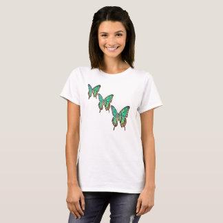 Colourful Cute Jade Green Butterfly Tshirt