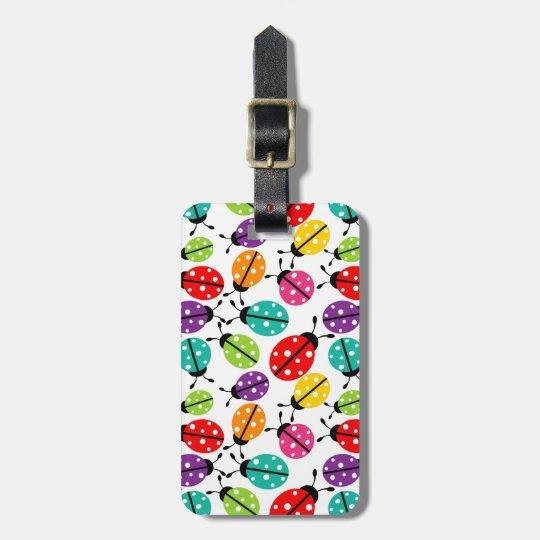 Colourful Cute Lady Bug Seamless Pattern Bag Tag