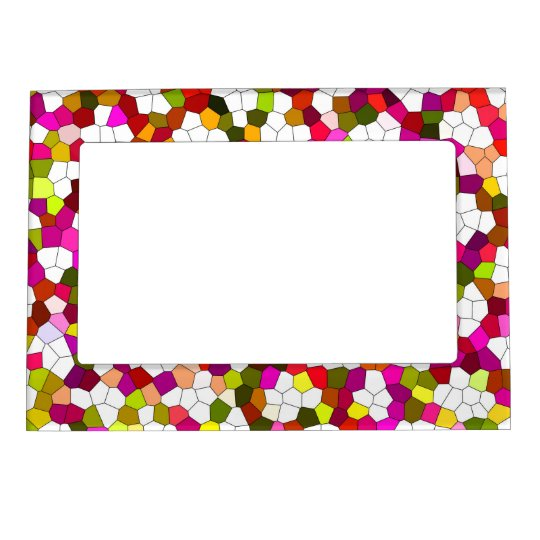 Colourful Cute Modern Trendy Pattern Magnetic Picture Frame