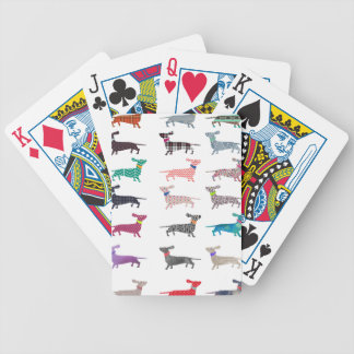 Colourful Dachshund! Bicycle Playing Cards