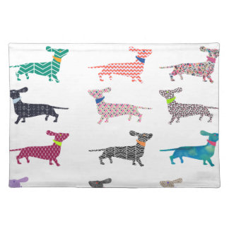 Colourful Dachshund! Placemat