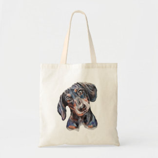 Colourful Dachshund sausage dog art Tote Bag