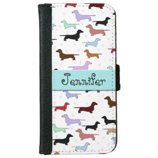 Colourful Dachshunds iPhone Wallet