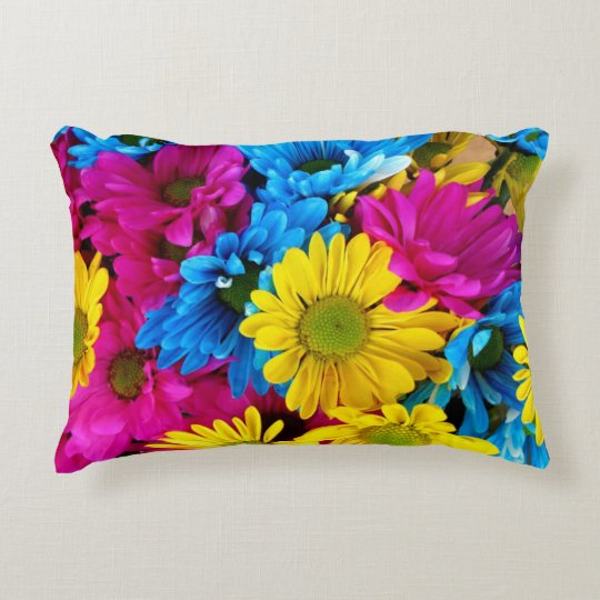 Colourful Daisies Decorative Pillow
