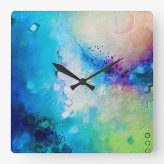 Colourful decorative square clock