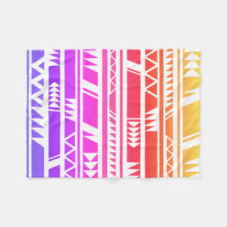 Colourful Design Ethnic Tribal Print Fleece Blanket