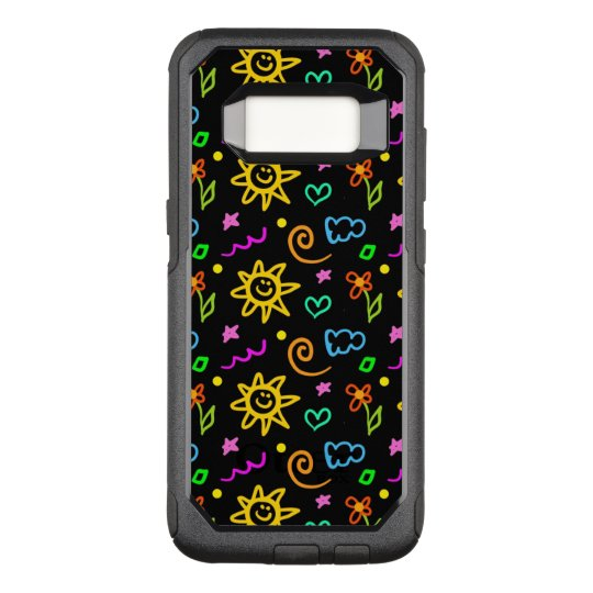 Colourful design of background for kids OtterBox commuter samsung galaxy s8 case