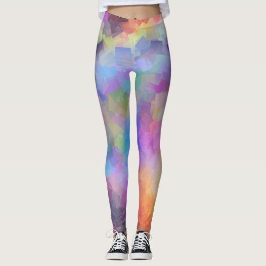 Colourful digital pattern leggings