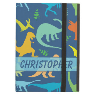 Colourful Dinosaur Pattern to Personalize iPad Air Cases