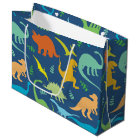 Colourful Dinosaurs Large Gift Bag
