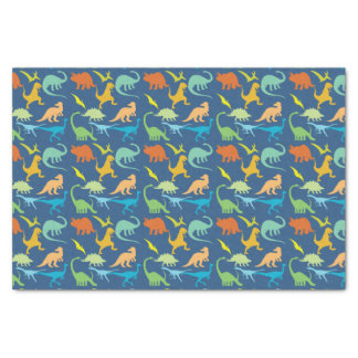 Colourful Dinosaurs Pattern Tissue Paper