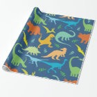 Colourful Dinosaurs Wrapping Paper